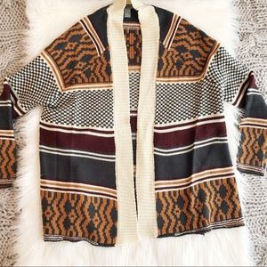 Cream Aztec cardigan